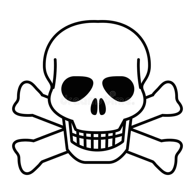 Isolated skull head design vector illustration royalty free illustration