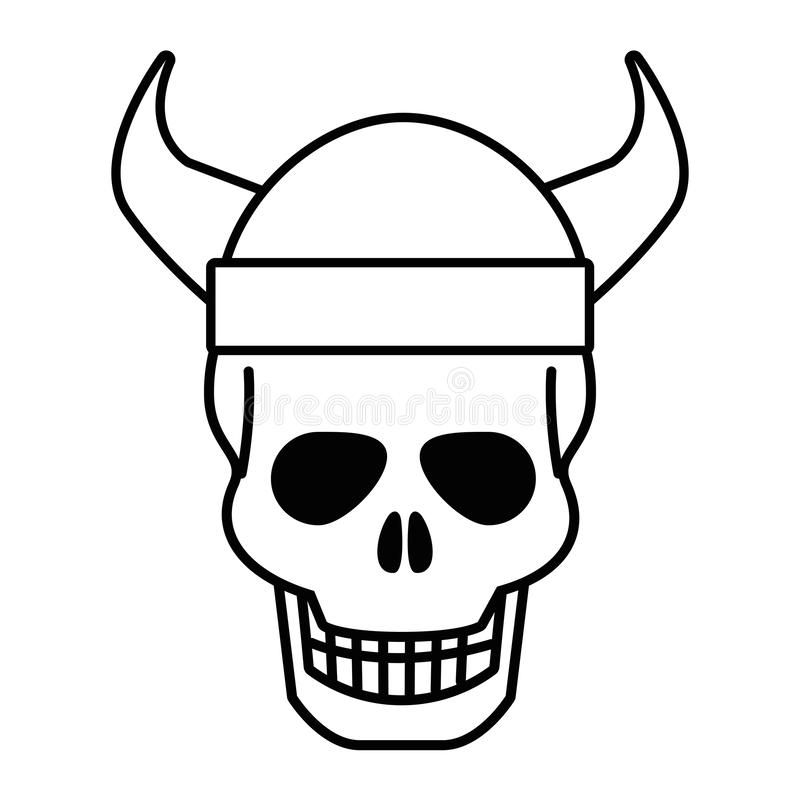 Isolated skull head design vector illustration vector illustration