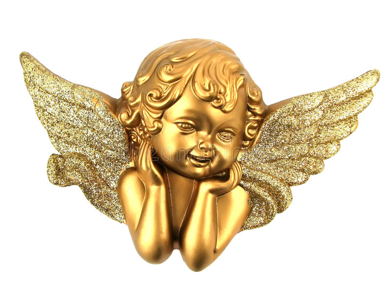 Isolated small Angel stock images