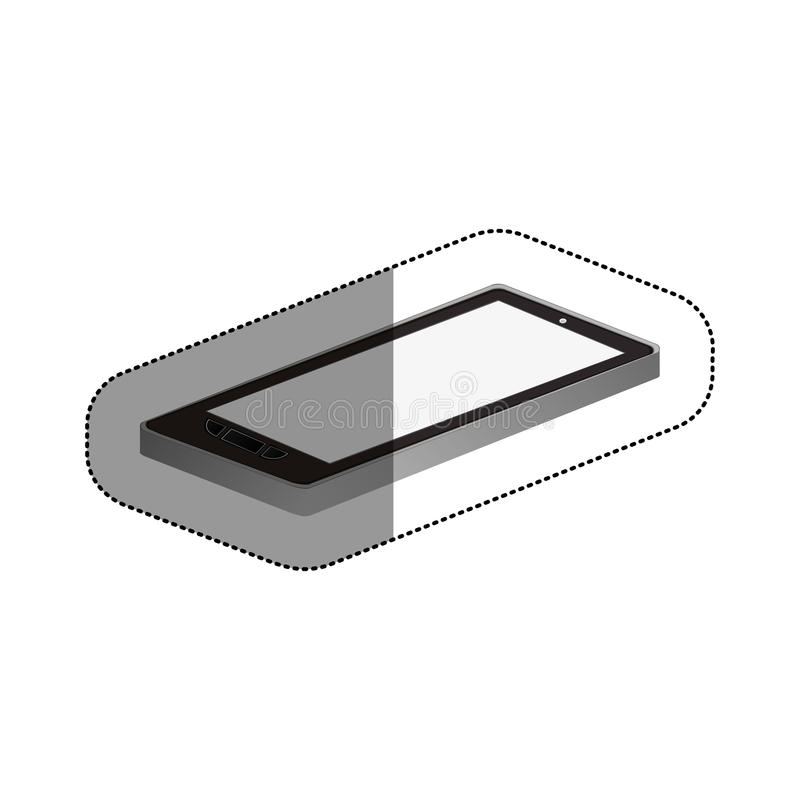 Isolated smartphone device design. Smartphone icon. Device gadget technology and electronic theme. Isolated design. Vector illustration vector illustration