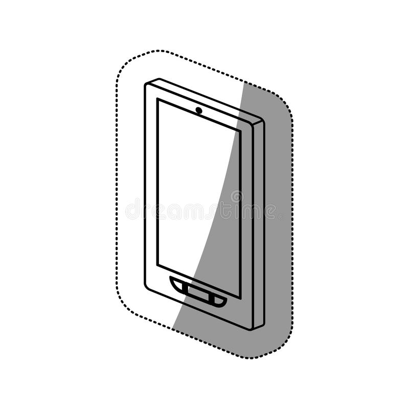 Isolated smartphone device design. Smartphone icon. Device gadget technology and electronic theme. Isolated design. Vector illustration royalty free illustration