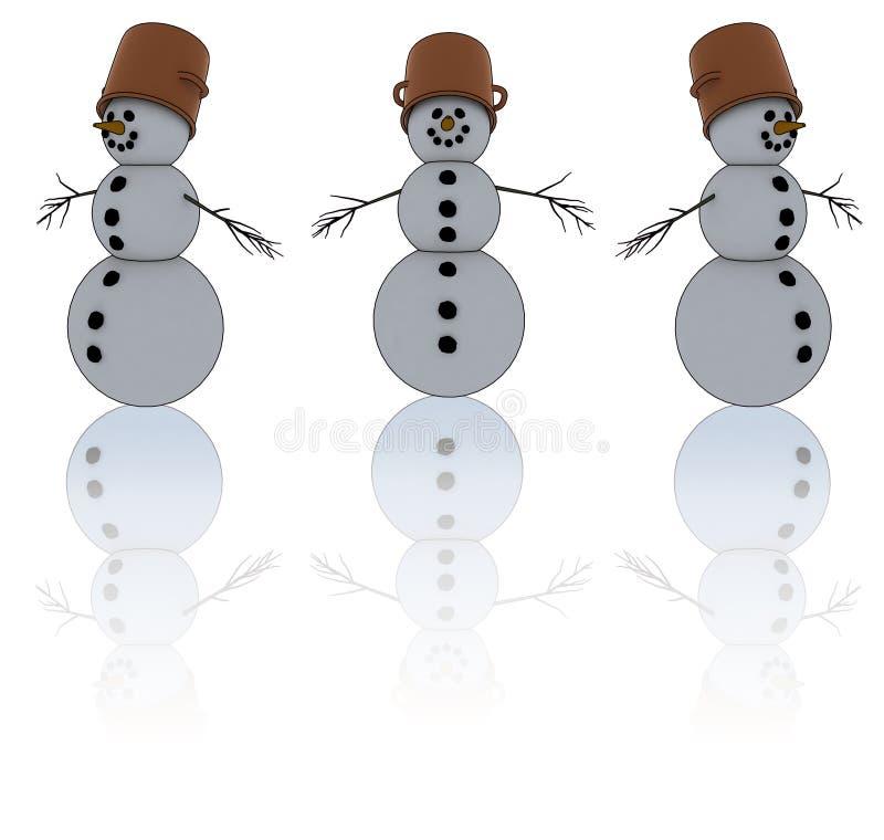 Isolated snowman stock illustration