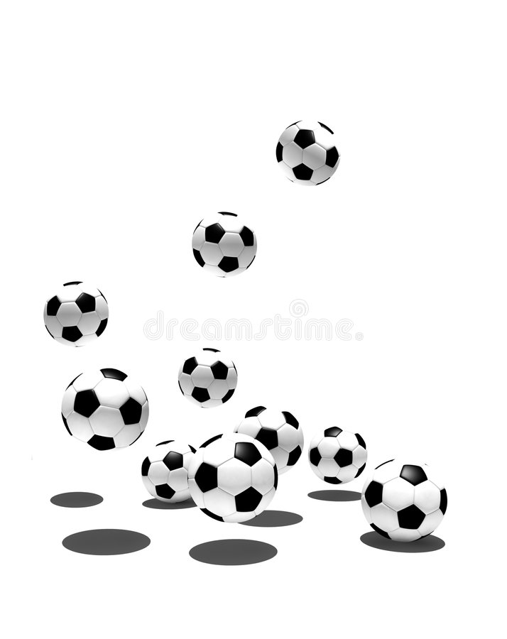Isolated soccer balls royalty free stock photos