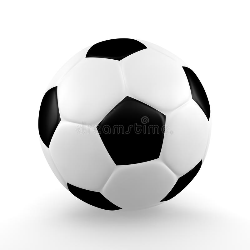 Download Isolated Soccerball stock illustration. Image of rendering - 18501634