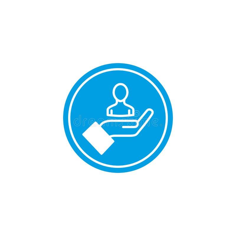 Isolated social media avatar icon block flat design stock illustration