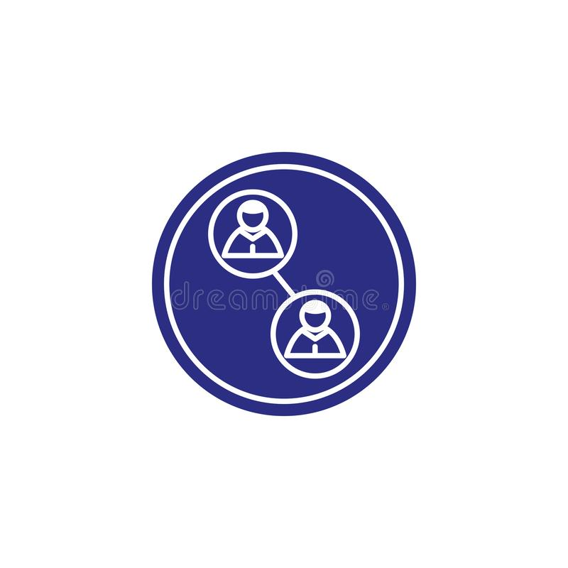 Isolated social media avatars icon block flat design royalty free illustration