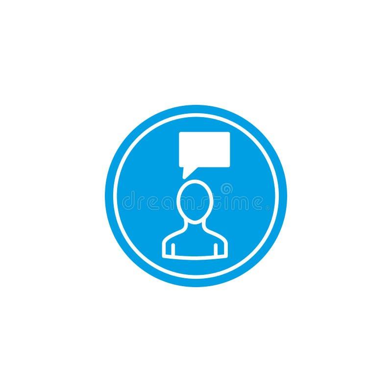 Isolated social media bubble icon block flat design vector illustration