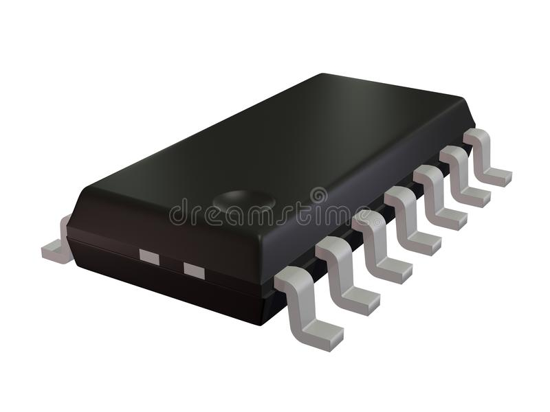 Download Isolated SOIC 16N Component Royalty Free Stock Image - Image: 26292326
