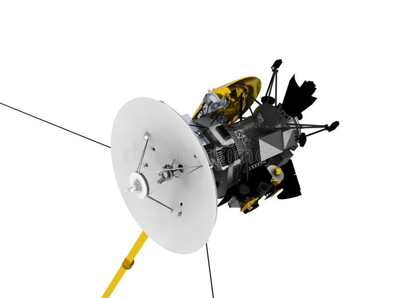 Isolated space satellite stock illustration