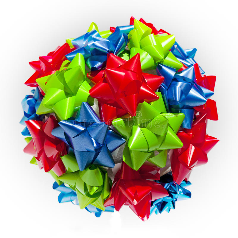 Isolated Sphere of Bows stock image