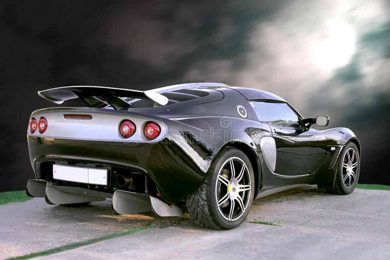 Download Isolated Sport Black Car On Blue Sky Background Stock Image - Image: 16759303