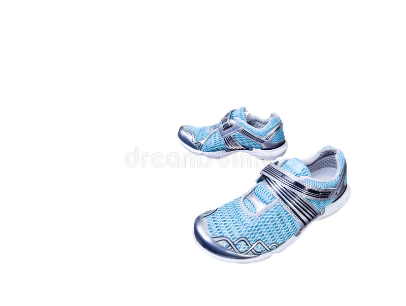 Download Isolated sport shoes stock photo. Image of blue, trainers - 14843544