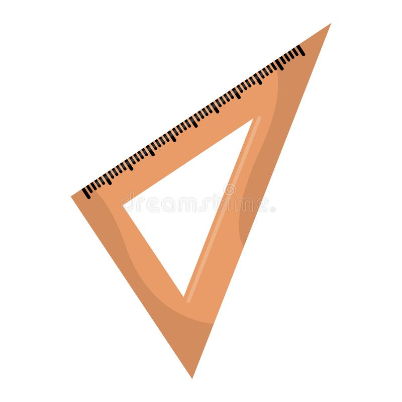Isolated square ruler. Image . School supplies- VEctor royalty free illustration