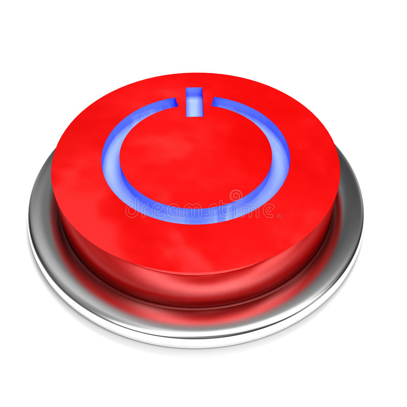 Isolated start button stock images