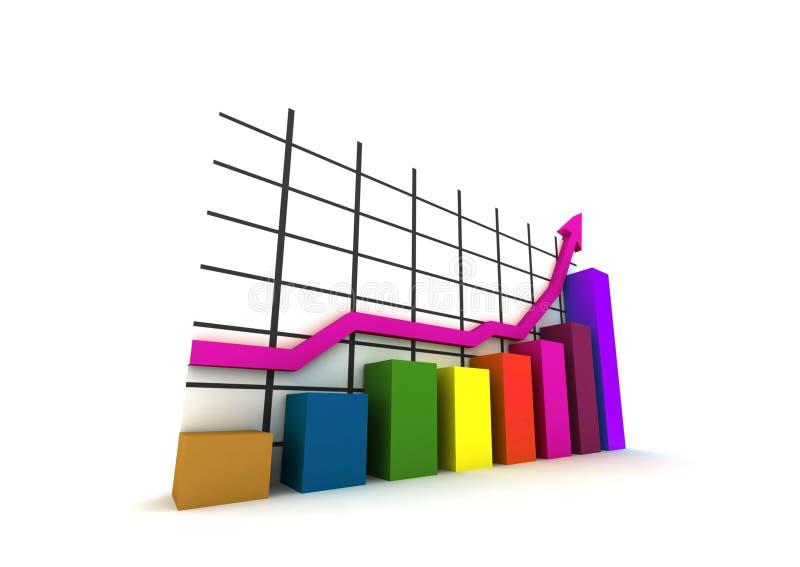 Isolated statistics stock illustration
