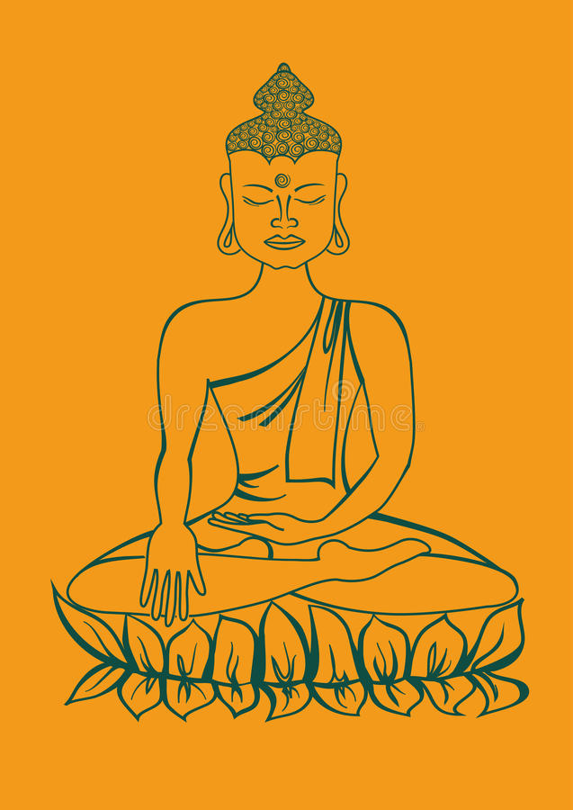 Download Isolated statue of Buddha stock vector. Image of religion - 33213540