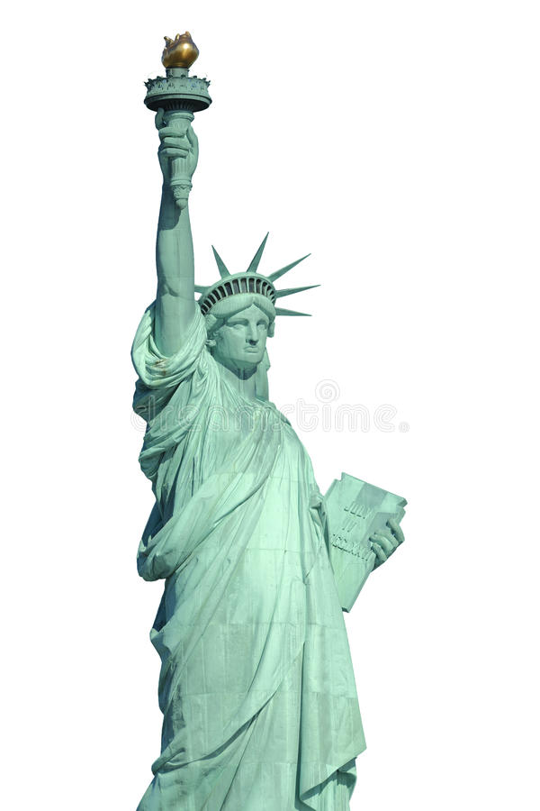 Isolated Statue Of Liberty Stock Images