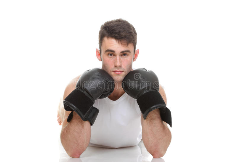 Download Isolated Studio Picture From A Young Boxer Stock Photo - Image: 33683954