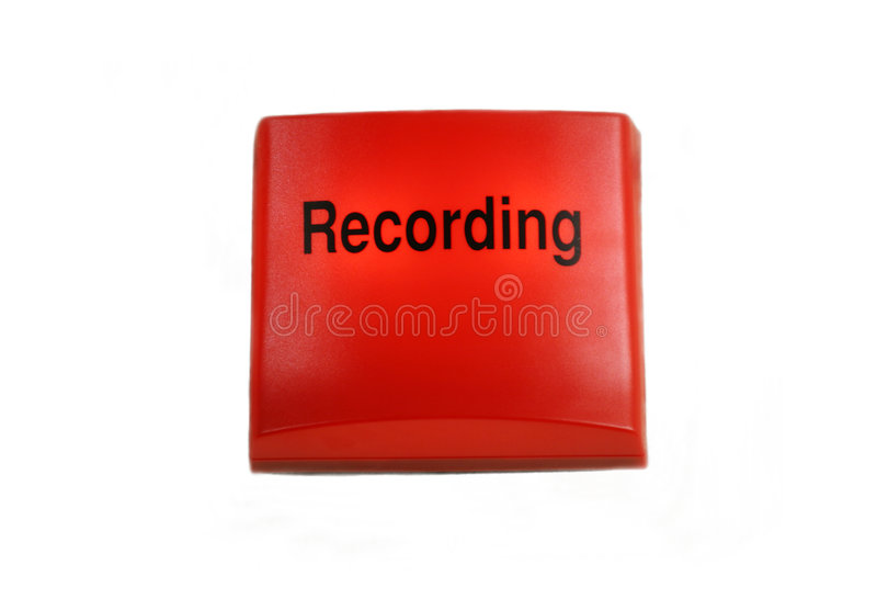 Isolated studio recording sign royalty free stock photos
