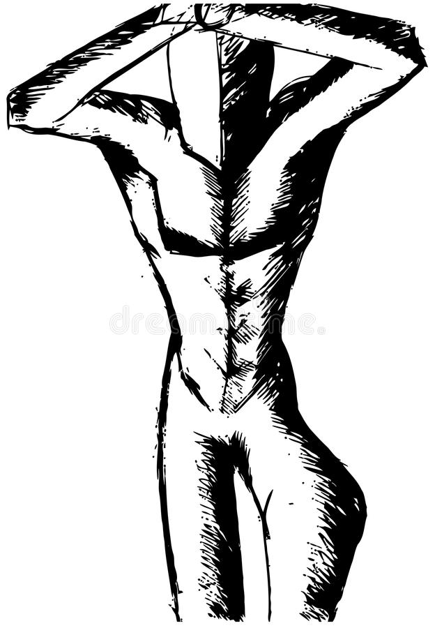 Isolated Stylized muscular man in black. Illustration that represents a muscled man stylized vector illustration