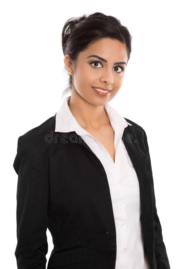 Free Isolated Successful Happy Indian Business Woman Over White. Royalty Free Stock Photos - 43734078