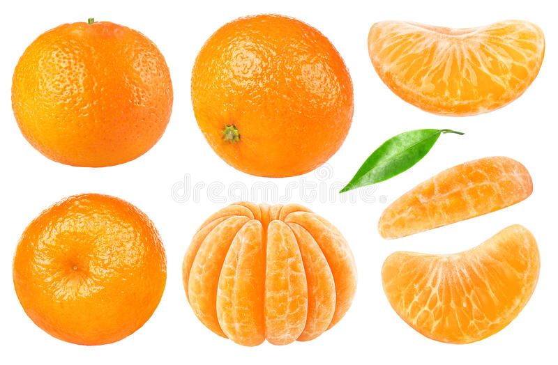 Isolated tangerine collection stock image