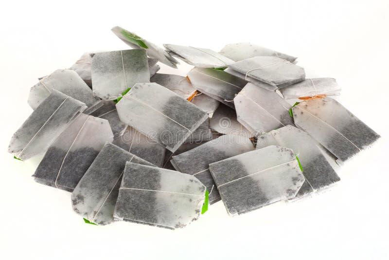 Isolated tea bags stock photos