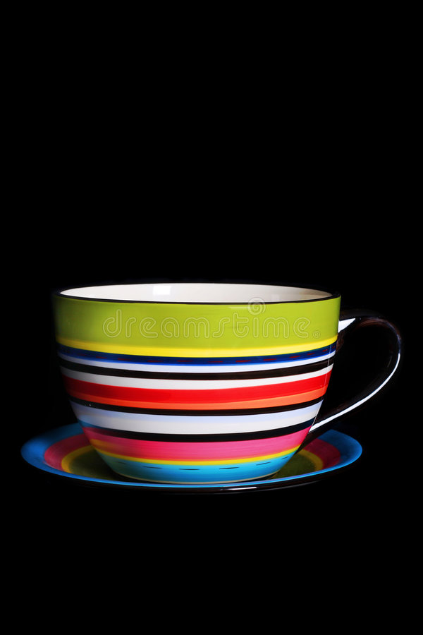 Isolated tea cup prop stock photo