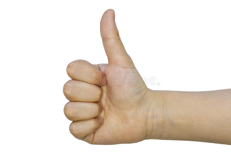 Isolated Teen Thumb Up - Like royalty free stock images
