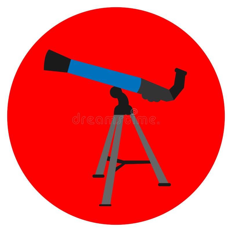 Isolated telescope icon stock illustration