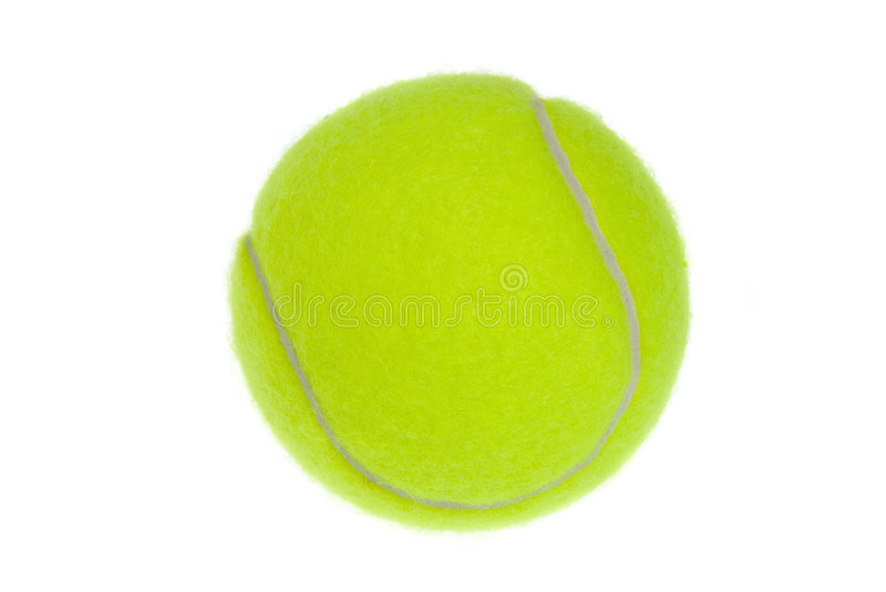 Isolated tennis ball stock image