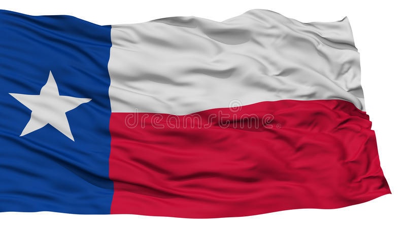 Isolated Texas Flag, USA state. Waving on White Background, High Resolution stock illustration