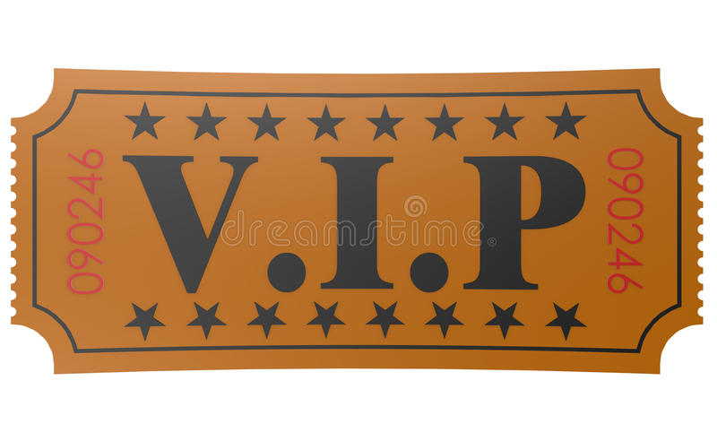 Isolated ticket with VIP word vector illustration