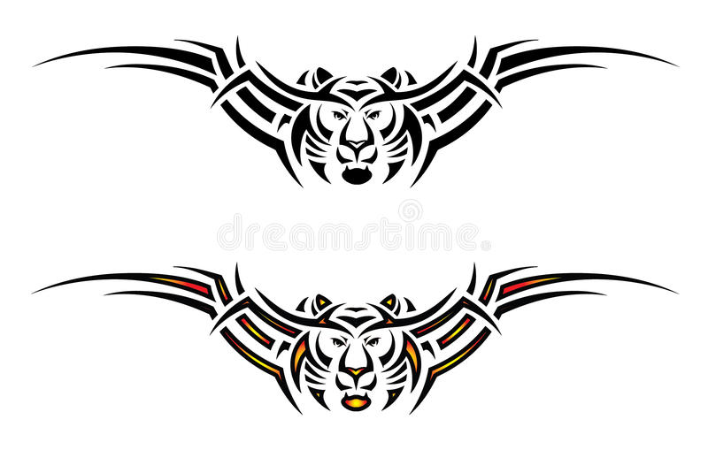 Download Isolated Tiger Tribal Tattoo Stock Vector - Image: 26676869