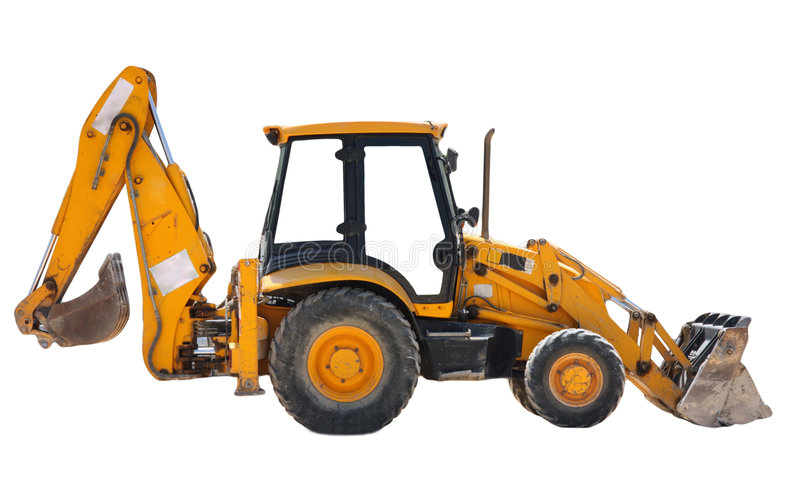 Isolated tractor royalty free stock photography