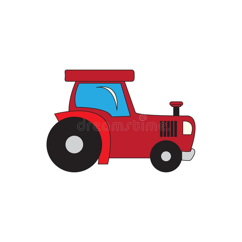 Isolated tractor cartoon. Image. Vector illustration design stock illustration