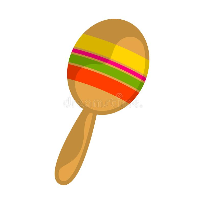 Isolated traditional colored mexican maraca image stock illustration
