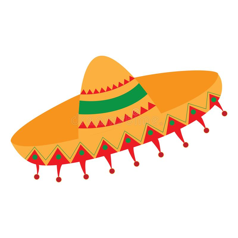 Isolated traditional mexican hat. Vector illustration design royalty free illustration