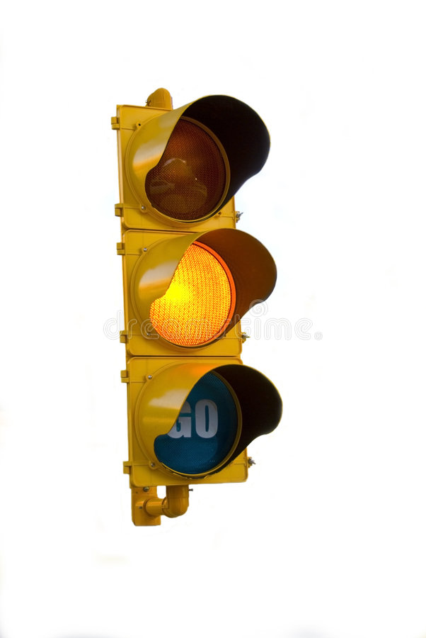 Isolated Traffic Light royalty free stock images