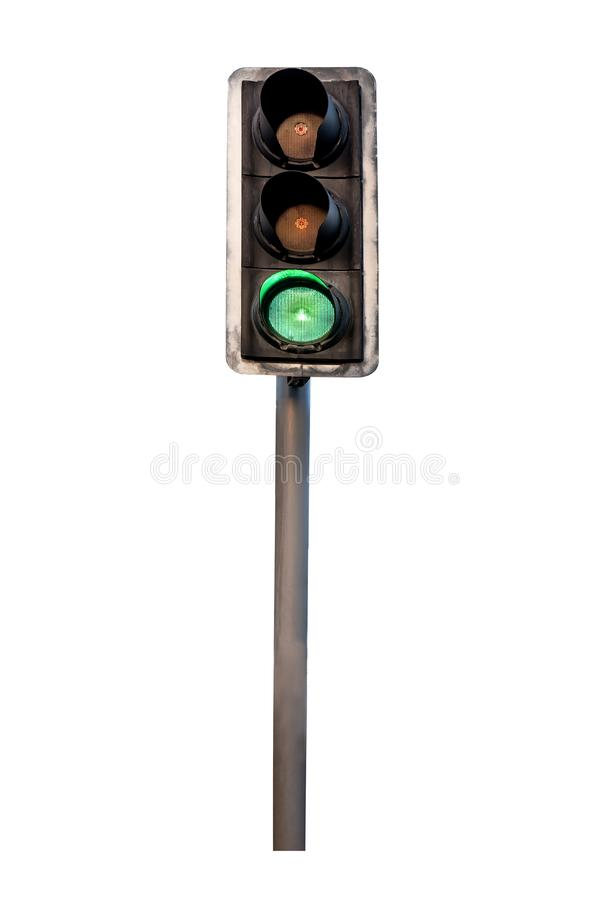 Isolated traffic light royalty free stock photo