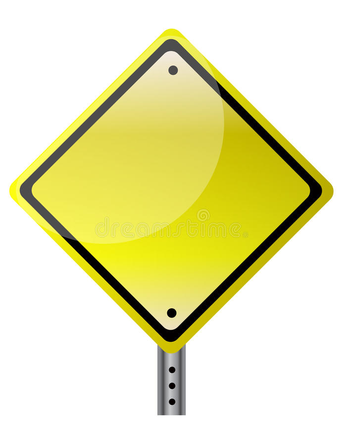 Isolated Traffic Sign Stock Image
