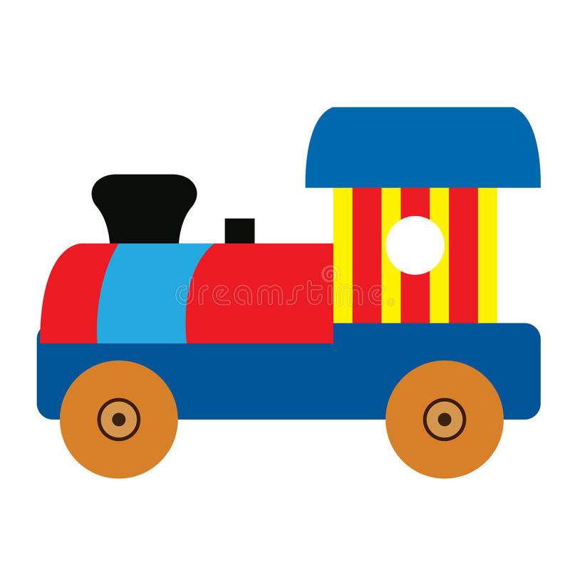 Isolated train toy. On a white background, Vector illustration vector illustration