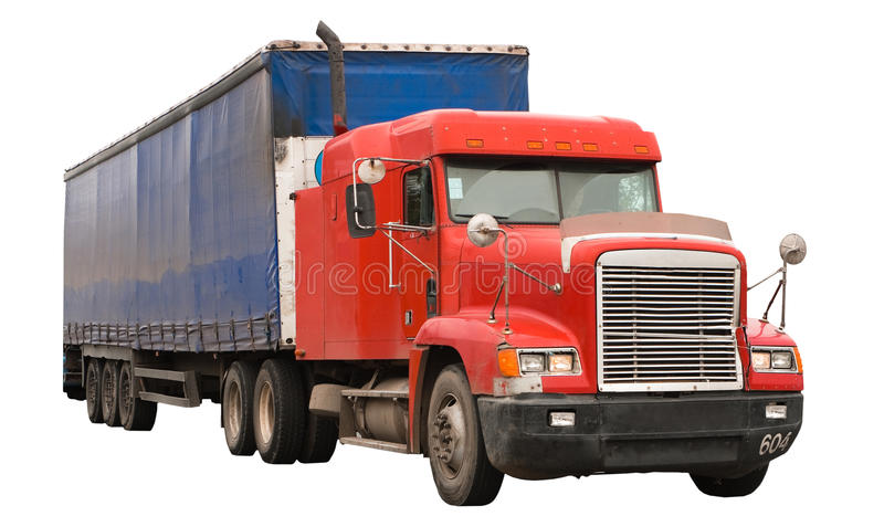 Isolated truck royalty free stock photos