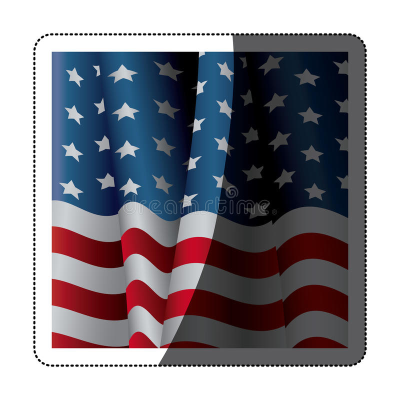 Isolated Usa flag inside frame design. Usa flag inside frame icon. United nation us country and american states theme. Isolated design. Vector illustration vector illustration