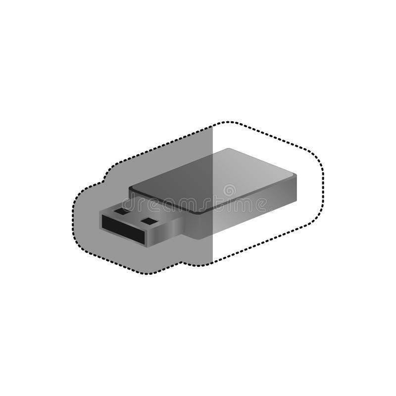 Isolated usb device design. Usb icon. Connection technology equipment and hardware theme. Isolated design. Vector illustration stock illustration