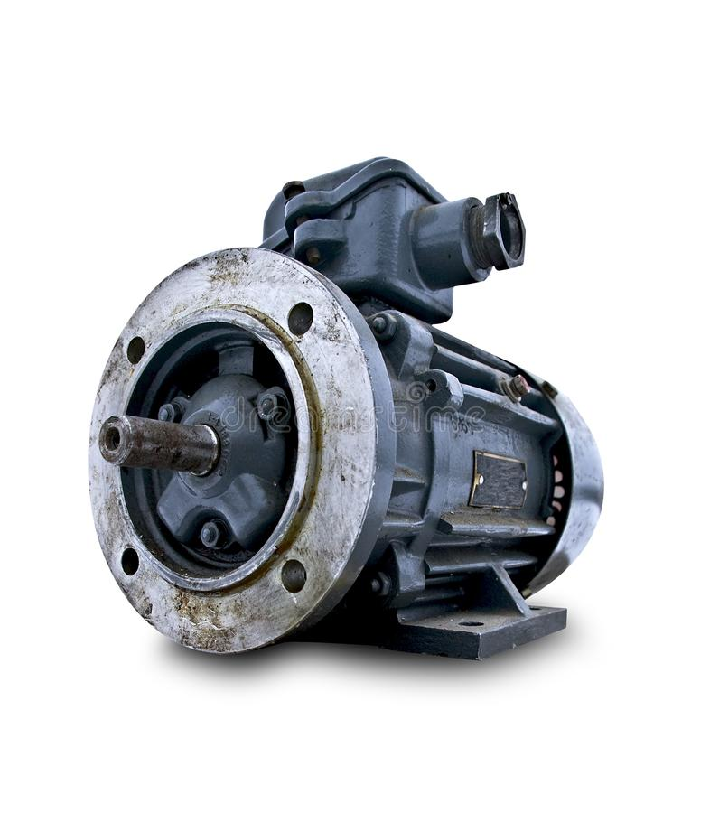 Free Isolated Used Electric Motor Royalty Free Stock Image - 12472276