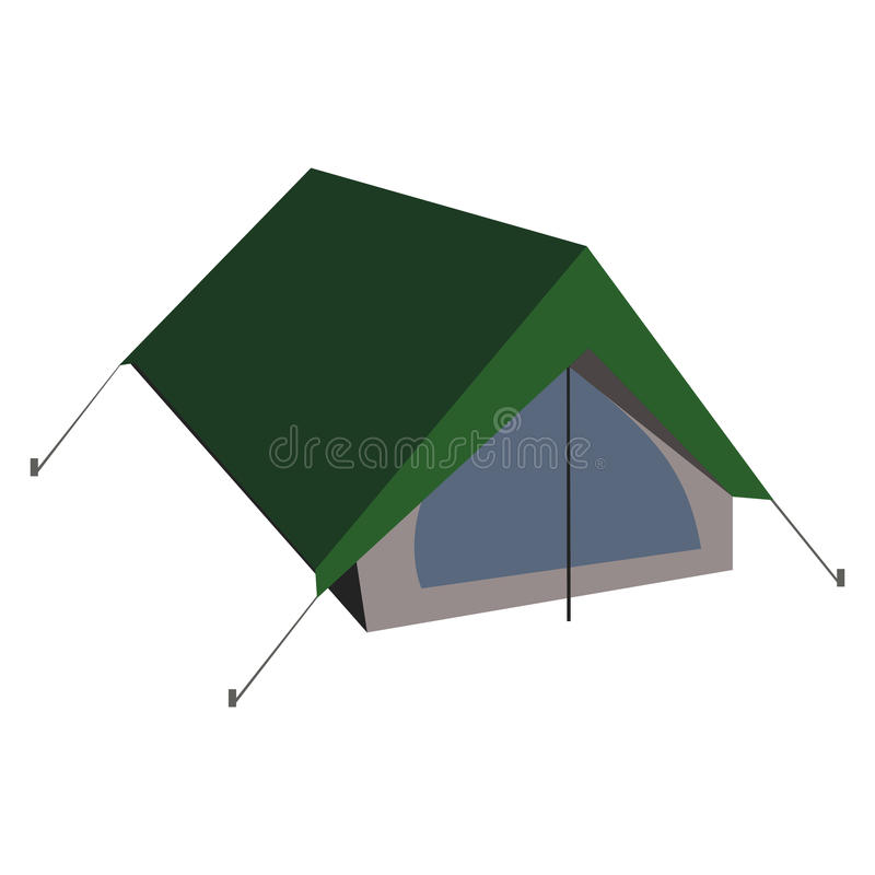 Isolated vector camping tent illustration in flat style. stock images