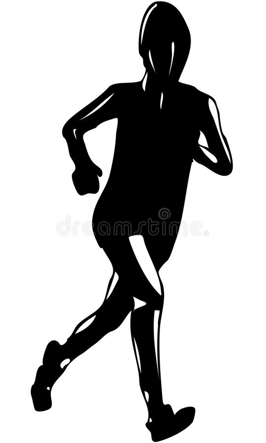 Download Isolated Vector Illustrated Silhouette Of Woman Running Stock Vector - Image: 30688680