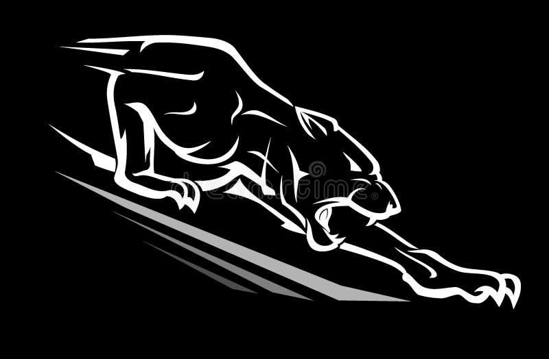 Black Panther Reaching Downward Stock Vector Illustration Of Predator Logo 149690456
