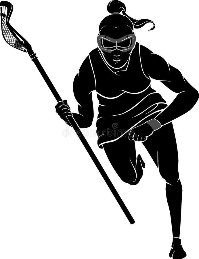 Lacrosse Female Rush stock illustration